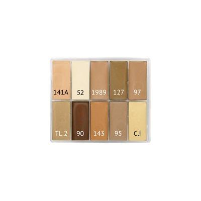 Palettes Fard Crème - 10 Couleurs (15ml)